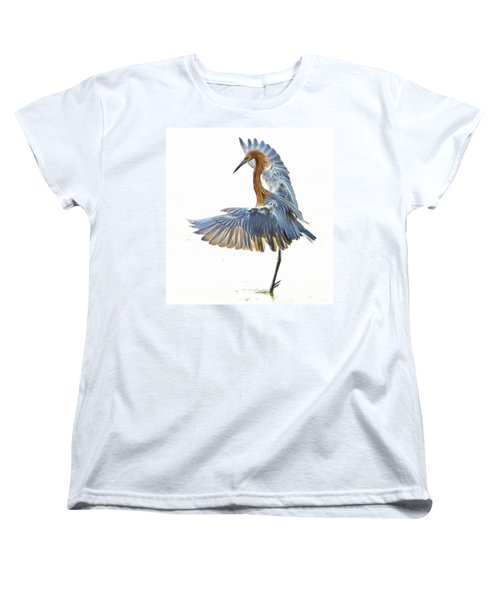 Reddish Egret 1 Women's T-Shirt (Standard Cut) by William Horden