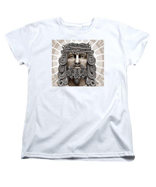 Redeemer - Modern Jesus Iconography - Copyrighted Women's T-Shirt (Standard Cut) by Christopher Beikmann