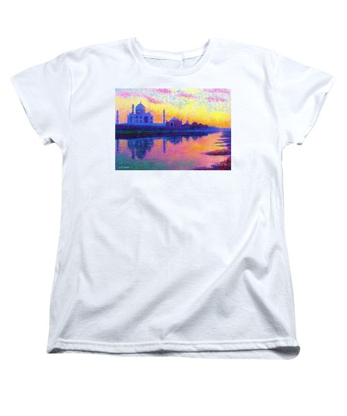 Taj Mahal, Reflections Of India Women's T-Shirt (Standard Fit)