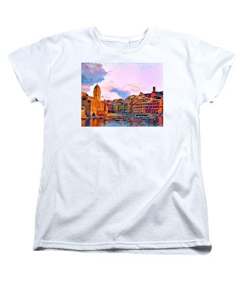 Relaxing Around Vernazza Women's T-Shirt (Standard Cut) by Michael Pickett