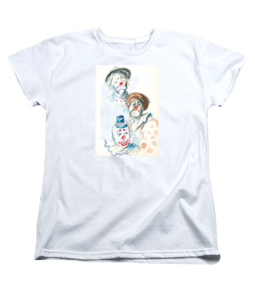 Remember The Clowns Women's T-Shirt (Standard Cut) by Mary Armstrong