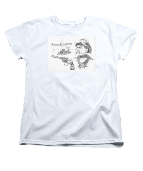 Remember The Maine Women's T-Shirt (Standard Cut) by Scott and Dixie Wiley
