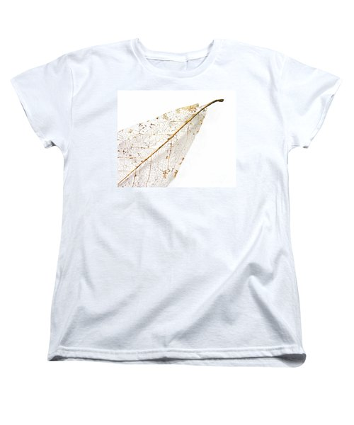Women's T-Shirt (Standard Cut) featuring the photograph Remnant Leaf by Ann Horn
