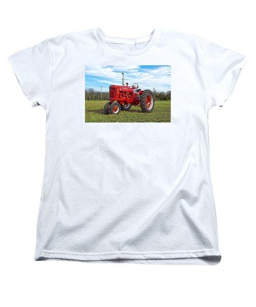 Restored Farmall Tractor Women's T-Shirt (Standard Cut) by Charles Beeler