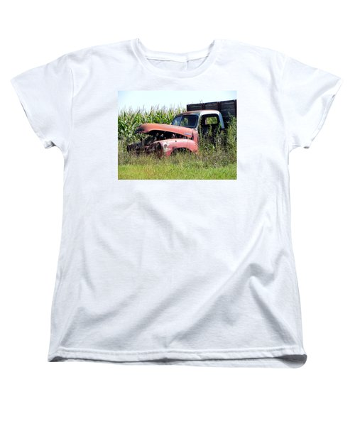 Women's T-Shirt (Standard Cut) featuring the photograph Retired by Deb Halloran