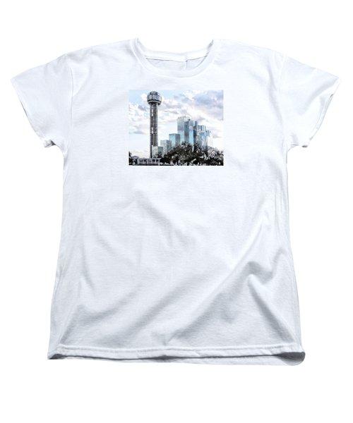 Women's T-Shirt (Standard Cut) featuring the photograph Reunion Tower Dallas Texas by Kathy Churchman