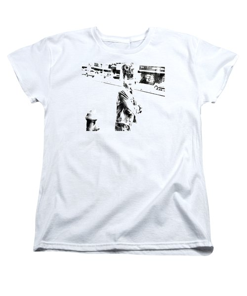 Rihanna Hanging Out Women's T-Shirt (Standard Cut) by Brian Reaves