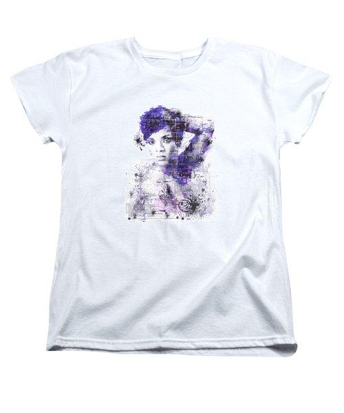 Rihanna Women's T-Shirt (Standard Cut) by Bekim Art