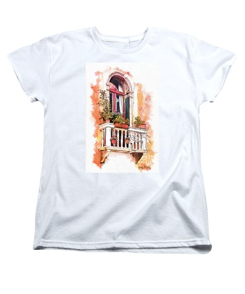 Women's T-Shirt (Standard Cut) featuring the painting Riposo by Greg Collins