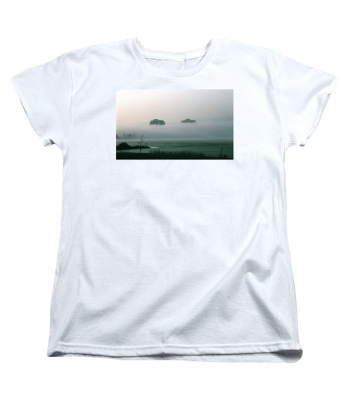 Rising From The Mist Women's T-Shirt (Standard Cut) by David Porteus
