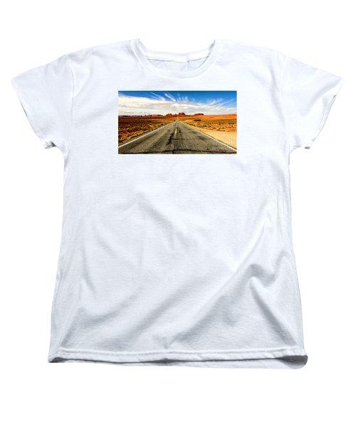 Road To Navajo Women's T-Shirt (Standard Cut) by Jason Abando