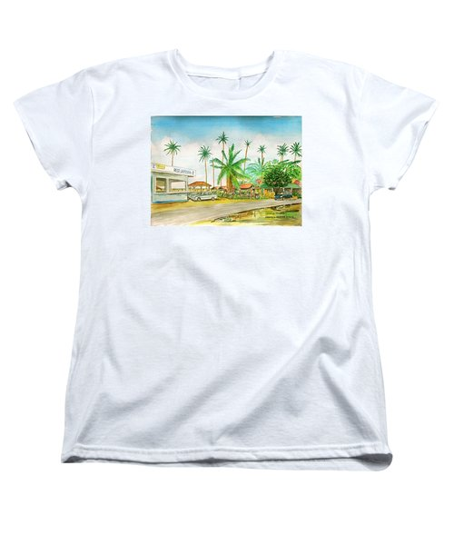 Roadside Food Stands Puerto Rico Women's T-Shirt (Standard Cut) by Frank Hunter