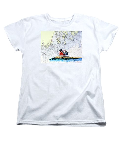 Rockland Breakwater Light Women's T-Shirt (Standard Cut) by Mike Robles