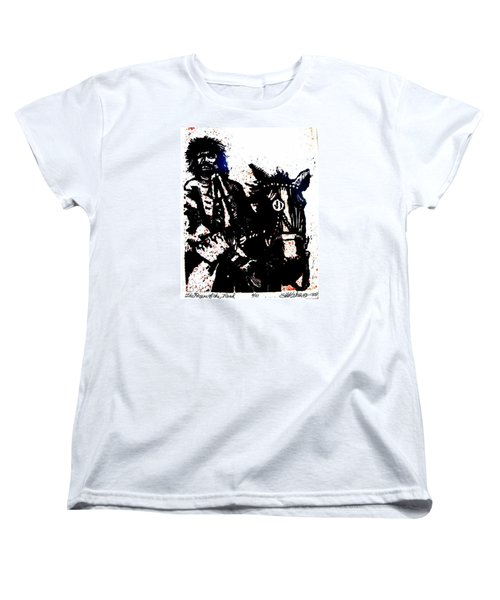 Women's T-Shirt (Standard Cut) featuring the relief Rogue Of The Road by Seth Weaver