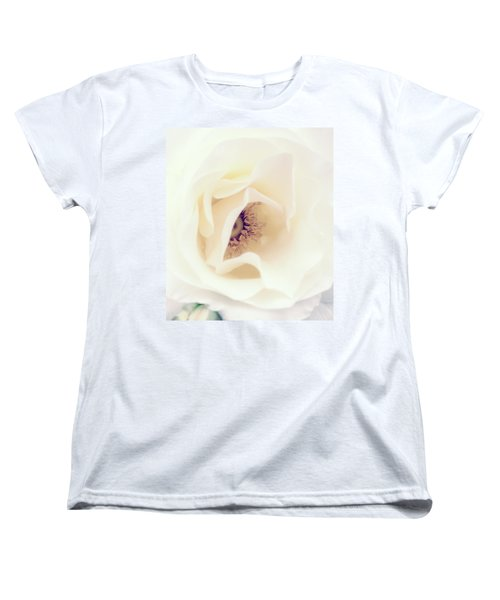 Romance In A Rose Women's T-Shirt (Standard Cut) by Spikey Mouse Photography