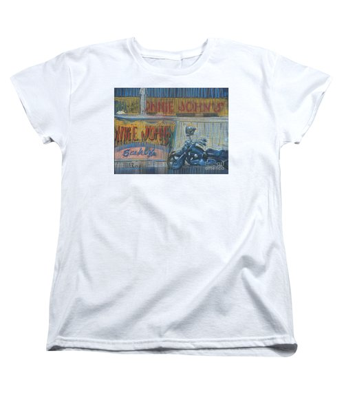 Women's T-Shirt (Standard Cut) featuring the painting Ronnie's Bike by Donald Maier