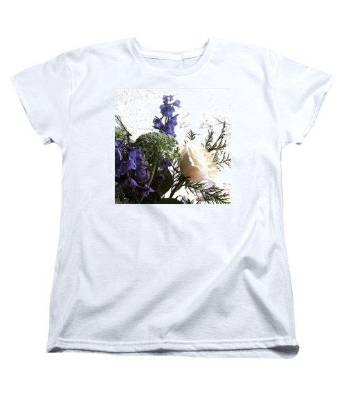 #rose #flowers Women's T-Shirt (Standard Cut) by Jennifer Beaudet