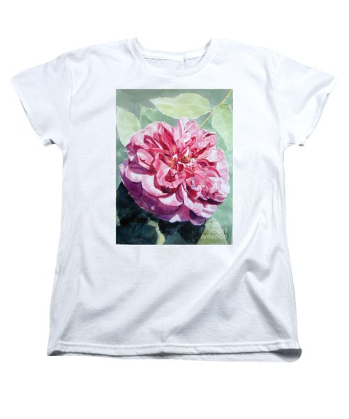 Pink Rose Van Gogh Women's T-Shirt (Standard Cut) by Greta Corens