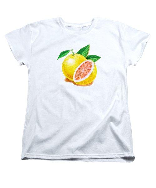 Ruby Red Grapefruit Women's T-Shirt (Standard Cut) by Irina Sztukowski
