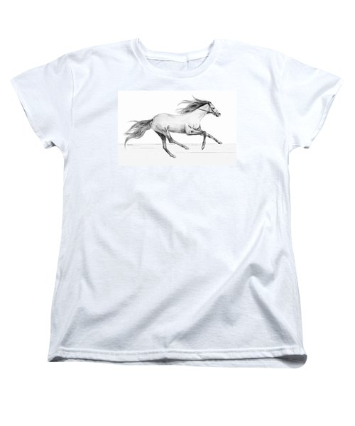 Women's T-Shirt (Standard Cut) featuring the drawing Runaway by Sophia Schmierer