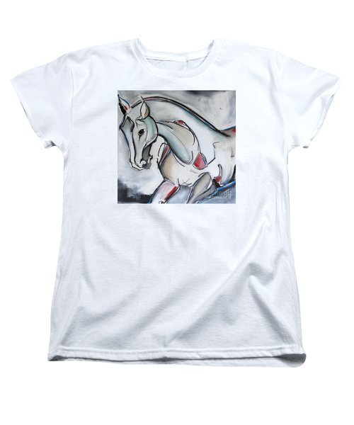Women's T-Shirt (Standard Cut) featuring the painting Running Wild by Nicole Gaitan