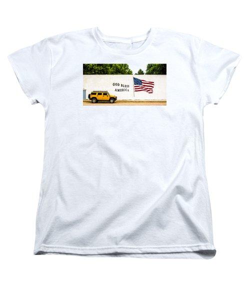 Rural America Wall Mural Women's T-Shirt (Standard Cut) by Bill Kesler