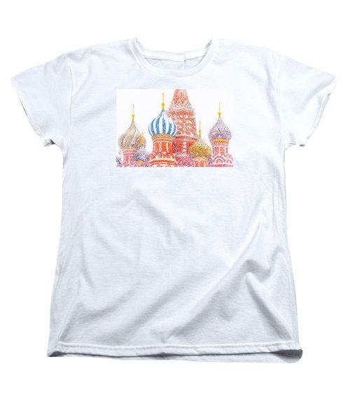Russian Winter Women's T-Shirt (Standard Cut) by Alexander Senin