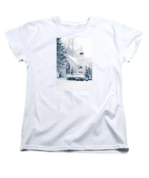 Historic Church Oella Maryland Usa Women's T-Shirt (Standard Cut) by Vizual Studio
