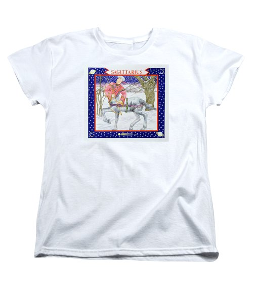 Sagittarius Wc On Paper Women's T-Shirt (Standard Cut) by Catherine Bradbury
