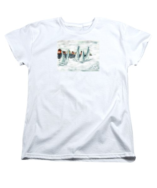 Sail Away With Me Women's T-Shirt (Standard Cut) by Patricia Olson