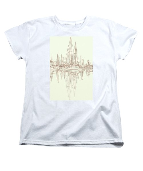 Women's T-Shirt (Standard Cut) featuring the photograph Sailboat On Liberty Bay by Greg Reed