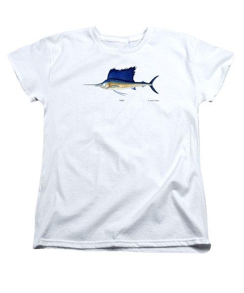 Sailfish Women's T-Shirt (Standard Cut) by Charles Harden