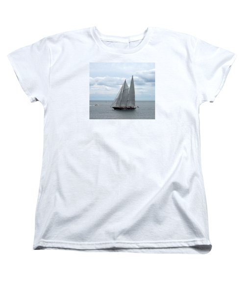 Sailing Day Women's T-Shirt (Standard Cut) by Catherine Gagne