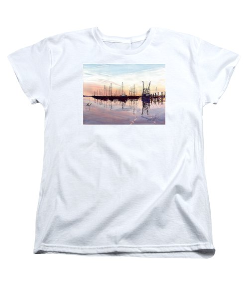 Saint Marys Marina   Shadows Light And Fire Women's T-Shirt (Standard Cut) by Joel Deutsch