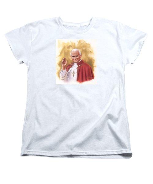 Saint Pope John Paul II Women's T-Shirt (Standard Cut)