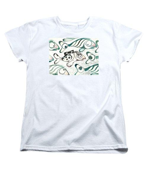 Salmon Boy The Swimmer Women's T-Shirt (Standard Cut)