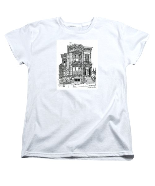San Francisco Victorian   Women's T-Shirt (Standard Cut) by Ira Shander