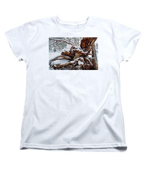 Women's T-Shirt (Standard Cut) featuring the photograph San Jacinto Fallen Tree by Kyle Hanson