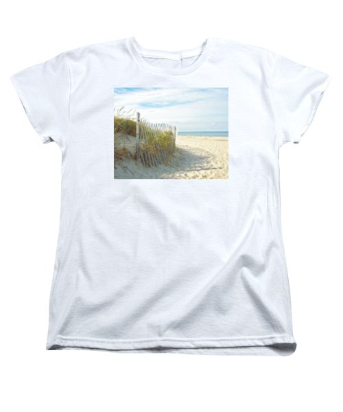 Sand Beach Ocean And Dunes Women's T-Shirt (Standard Cut) by Brooke T Ryan