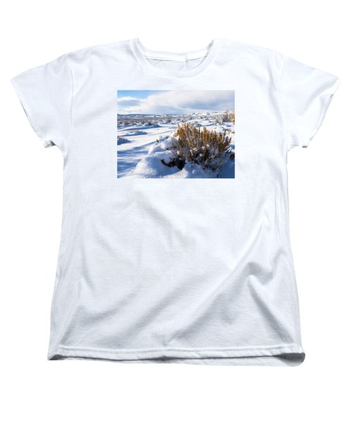 Sand Wash Basin In The Winter Women's T-Shirt (Standard Cut) by Nadja Rider