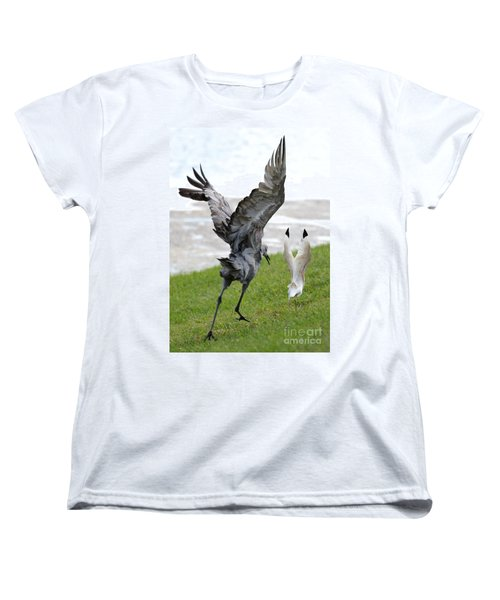 Sandhill Chasing Ibis Women's T-Shirt (Standard Cut) by Carol Groenen