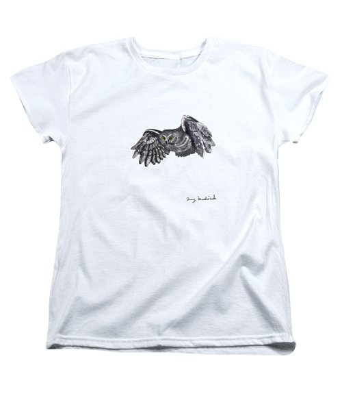 Saw-whet Owl Women's T-Shirt (Standard Cut) by Terry Frederick