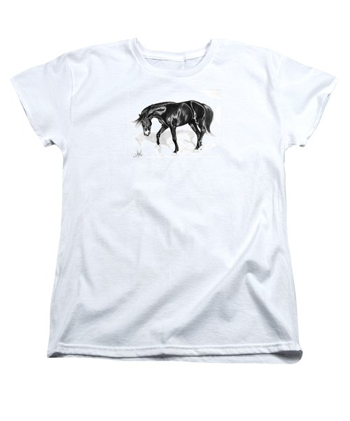 Scottish Gold - Registered Thoroughbred Women's T-Shirt (Standard Cut) by Cheryl Poland