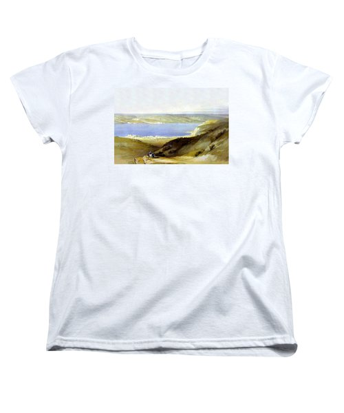 Sea Of Galilee Women's T-Shirt (Standard Cut) by Munir Alawi