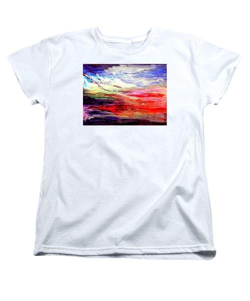 Sea Sky I Women's T-Shirt (Standard Cut) by Karen  Ferrand Carroll