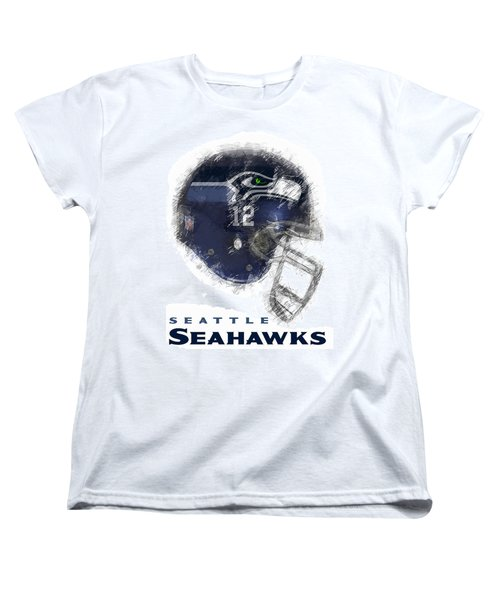 Seahawks 12 Women's T-Shirt (Standard Cut) by Daniel Hagerman