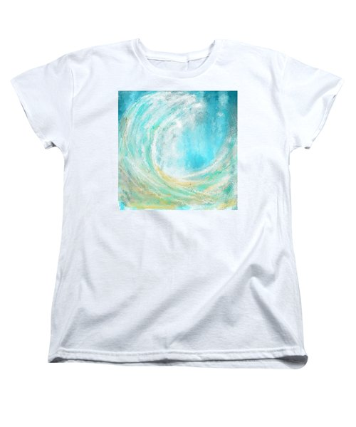 Seascapes Abstract Art - Mesmerized Women's T-Shirt (Standard Cut) by Lourry Legarde