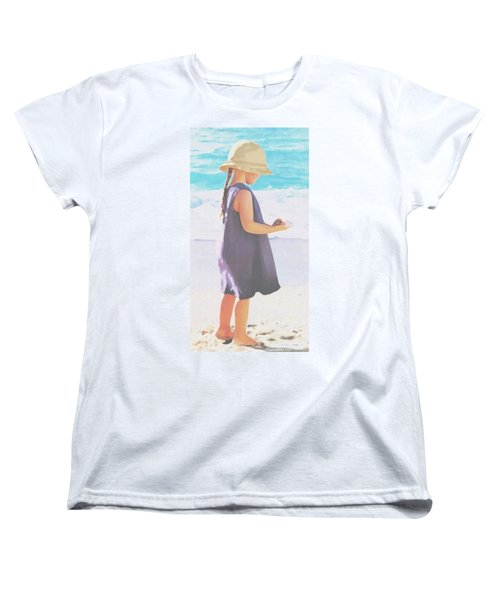 Women's T-Shirt (Standard Cut) featuring the painting Seaside Treasures by Sophia Schmierer