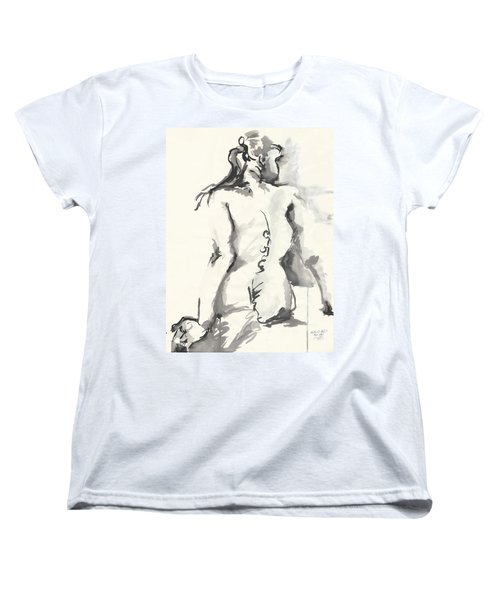 Seated Nude Women's T-Shirt (Standard Cut) by Melinda Dare Benfield