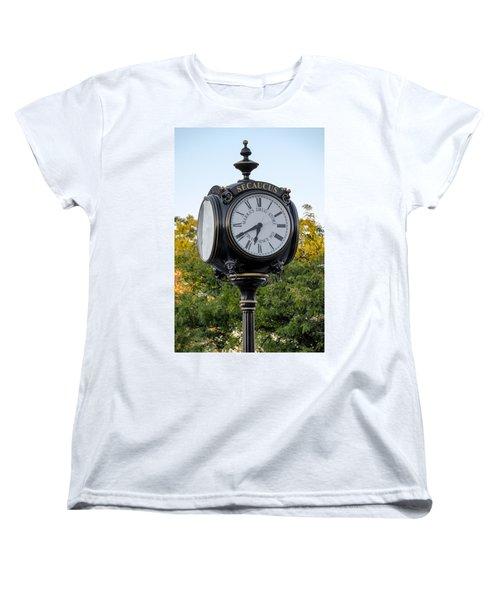 Secaucus Clock Marras Drugs Women's T-Shirt (Standard Cut) by Susan Candelario